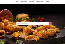 KFC Delivery platforma livrare